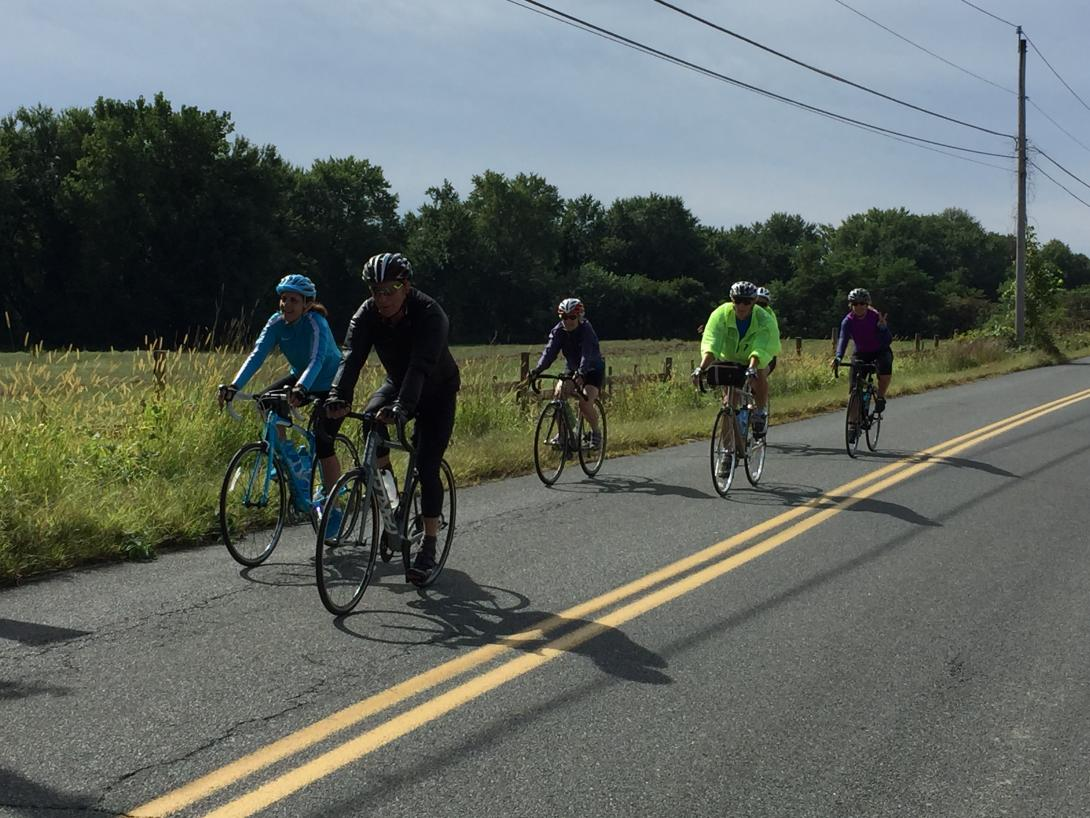 Group Cycling in the Connecticut River Valley