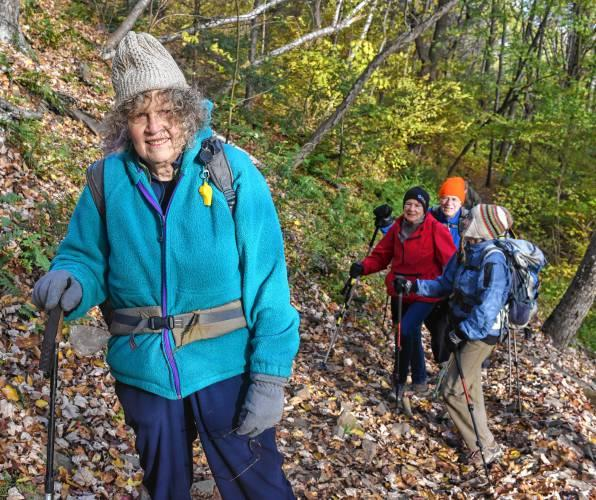 Jan Alicia Nettler and companions on the Seven Sisters Trail